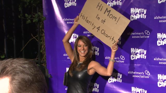 eva larue at hilarity for charity benefiting the alzheimer's association on 1/13/12 in los angeles ca - eva larue stock videos and b-roll footage