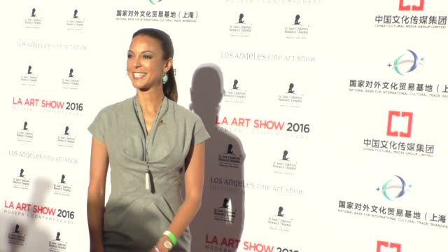 eva larue at the la art show and los angeles fine art show's 2016 opening night premiere party at la convention center in los angeles celebrity... - eva larue stock videos and b-roll footage