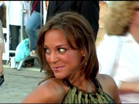 eva larue at the 'mr and mrs smith' world premiere at the mann village theatre in westwood california on june 7 2005 - eva larue stock videos and b-roll footage
