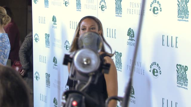 eva larue callahan at the elle green event at boulevard 3 in los angeles california on april 5 2007 - eva larue stock videos and b-roll footage