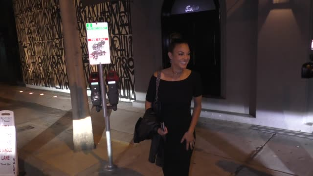 interview eva larue is asked about uncomfortable fan encounters outside craig's in west hollywood in celebrity sightings in los angeles - eva larue stock videos and b-roll footage