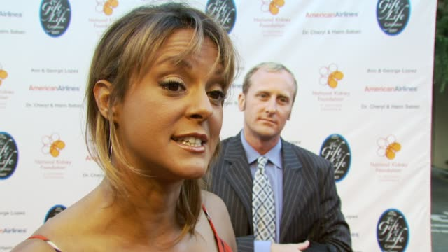 eva larue on the event at the national kidney foundation's 28th annual gift of life event at the wb studios in los angeles california on april 29 2007 - eva larue stock videos and b-roll footage