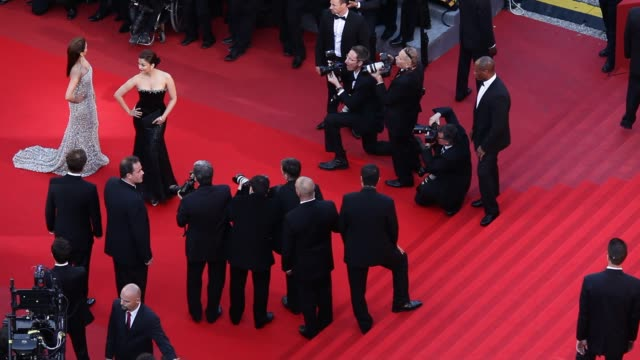 Eva Longoria and Aishwarya Rai at the Tournee Red Carpet Cannes Film Festival 2010 at Cannes