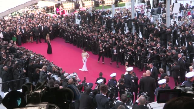 Eva Longoria and Doutzen Kroes on the red carpet for the Premiere of Cafe Society and the Opening Ceremony of the Cannes Film Festival 2016 Wednesday...
