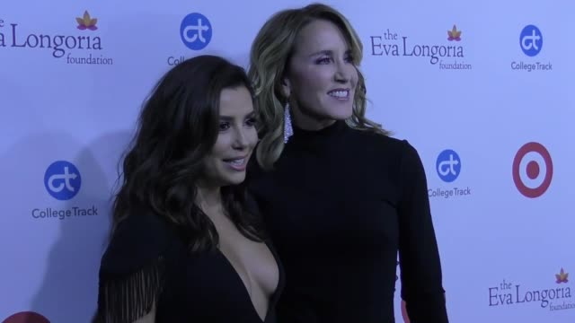 Eva Longoria and Felicity Huffman at Eva Longoria Foundation Dinner Gala on October 12 2017 in Beverly Hills California