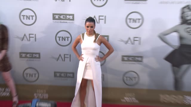 vídeos de stock, filmes e b-roll de eva longoria at afi's 42nd life achievement award honoring jane fonda at dolby theatre on june 05 2014 in hollywood california - american film institute