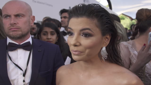INTERVIEW Eva Longoria on all the good that comes from the amfAR event at the amfAR Cannes Gala 2019 Arrivals at Hotel du CapEdenRoc on May 23 2019...