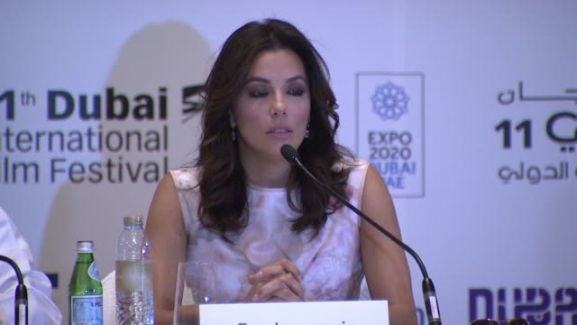 eva longoria on immigration reform and it being a global problem, on supporting president obama's executive action regarding immigration at the... - interview stock videos & royalty-free footage