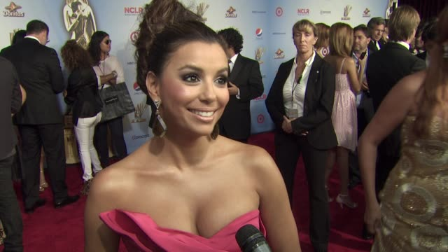 eva longoria on the event and award show at the 2011 nclr alma awards at santa monica ca. - interview stock videos & royalty-free footage