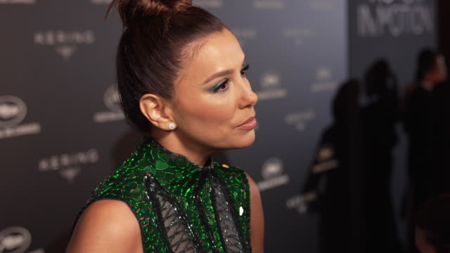 Eva Longoria on the upset at Alain Delon receiving an honorary Palme D'Or at Kering Women in Motion Party The 72nd Cannes Film Festival on May 19...