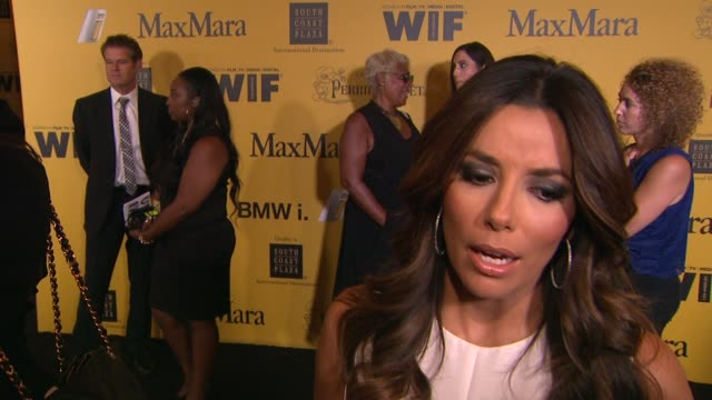 eva longoria on what it means to receive this honor and her advice for young women hoping to break into the entertainment industry at the 2014 women... - interview stock videos & royalty-free footage