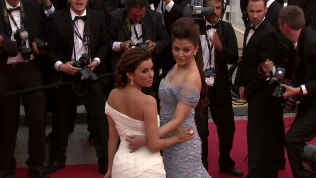 Eva Longoria Parker and Aishwarya Rai Bachchan at the Robin Hood Red Carpet Cannes Film Festival 2010 at Cannes