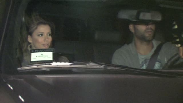 eva longoria parker and tony parker outside nobu in west hollywood at the celebrity sightings in los angeles at los angeles ca - nobu restaurants stock videos & royalty-free footage