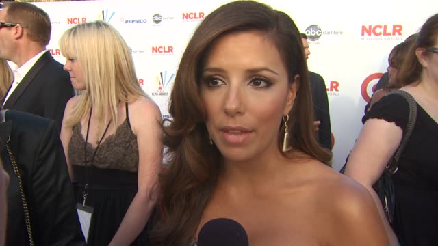 eva longoria parker on how she became the alma awards producer, the importance of the awards and her roll as a model for woman and the latino... - westwood neighborhood los angeles stock videos & royalty-free footage