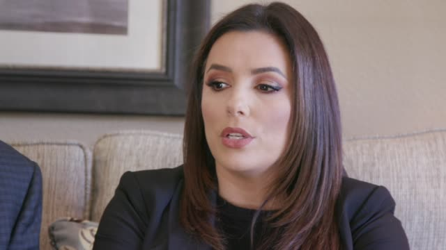 eva longoria speaks at the eva longoria and bobby turner visit affordable workforce housing investment on social impact tour in dallas at legends on... - interview stock videos & royalty-free footage