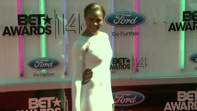 eva marcille at the 2014 bet awards on june 29 2014 in los angeles california - bet awards stock videos and b-roll footage