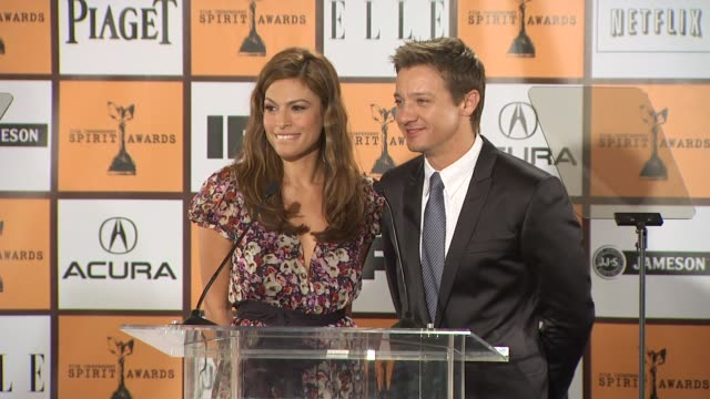 Eva Mendes and Jeremy Renner announce the nominations for the 2011 Film Independent Spirit Awards at the 2011 Film Independent Spirit Awards...