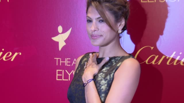 eva mendes launches cartier love charity bracelet to benefit art of elysium new york ny 06/11/09 - cartier video stock e b–roll