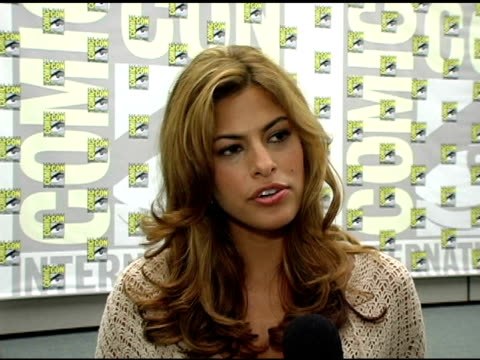 Eva Mendes on her character in the film how different she is than the comic version on working with Nicolas Cage and on her first ComicCon at the...