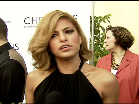 eva mendes on how she learned about the foundation, why she wanted to get involved, the film she's working on next at the chrysalis' fifth annual... - chrysalis butterfly ball video stock e b–roll