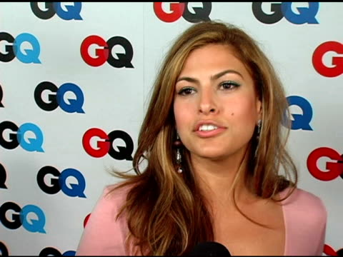 eva mendes on what type of man she likes what she finds attractive in a man and what her best assets are at the gq's 2005 'men of the year'... - eva six stock videos & royalty-free footage