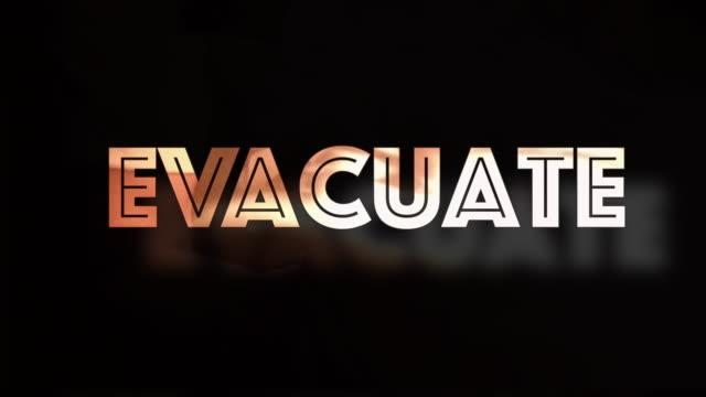 evacuare l'immagine del computer - evacuazione video stock e b–roll