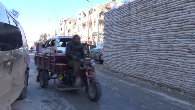 Evacuated civilians fled from East Aleppo where had been under siege by Iranled Shiite militias and Assad Regime forces arrive at Rashedeen town of...