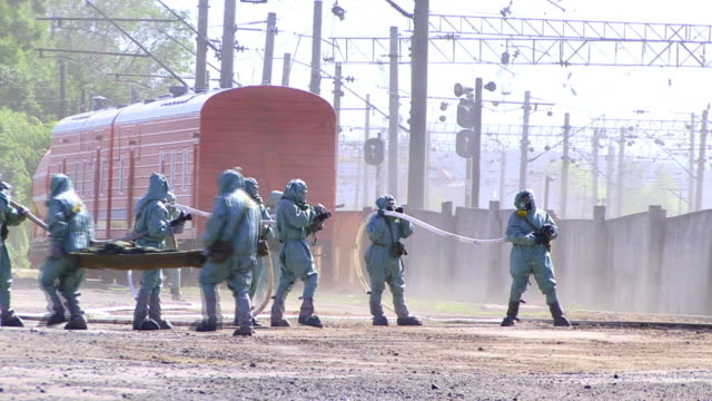 Evacuation Team in Chemical Disaster
