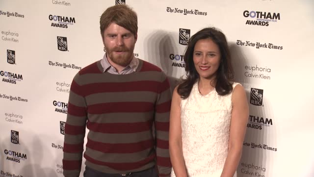 evan glodell and executive director of the ifp joana vicente at the ifp's 21st annual gotham independent film awards red carpet at new york ny - executive director stock videos & royalty-free footage