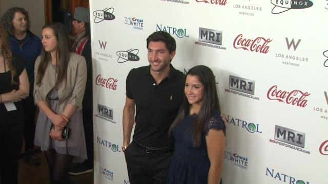 Evan Lysacek Aly Raisman at CW3PR Presents Gold Meets Golden At Equinox Sports Club Hosted By Nicole Kidman 1/12/2013 in Los Angeles CA