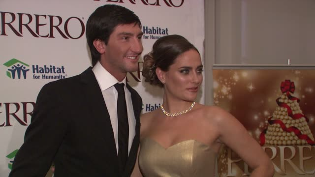Evan Lysacek and Diana Lovrin at the Ferrero Chocolates and Evan Lysacek Fashion Event at New York NY