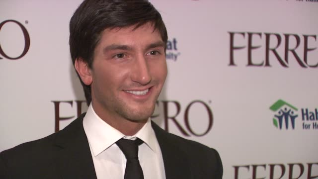 Evan Lysacek at the Ferrero Chocolates and Evan Lysacek Fashion Event at New York NY