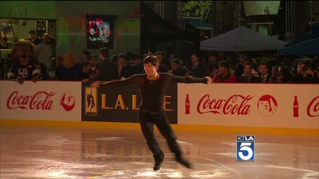Evan Lysacek at the Holiday Tree Lighting At LA Live Opening Of The LA Kings Holiday Ice at Los Angeles CA