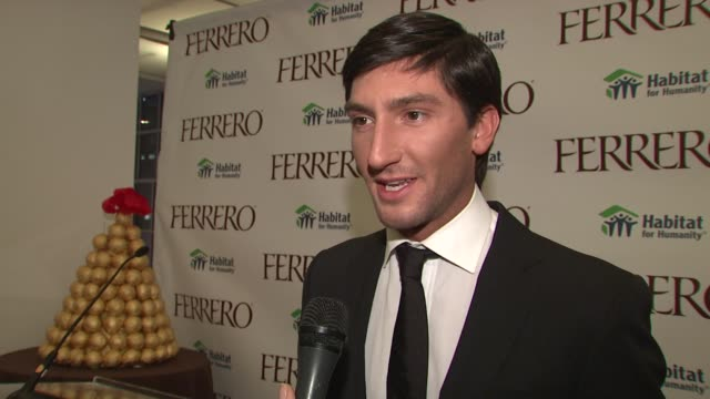 Evan Lysacek on sports and style and his upcoming plans at the Ferrero Chocolates and Evan Lysacek Fashion Event at New York NY