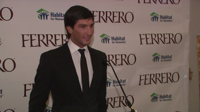 Evan Lysacek on working with Ferrero at the Ferrero Chocolates and Evan Lysacek Fashion Event at New York NY