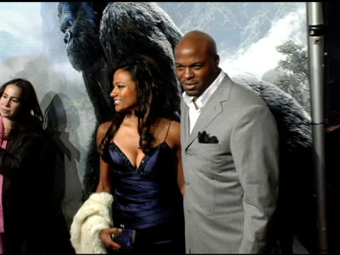 Evan Parke and guest at the 'King Kong' New York Premiere at Loews EWalk and AMC Empire Cinemas in New York New York on December 5 2005