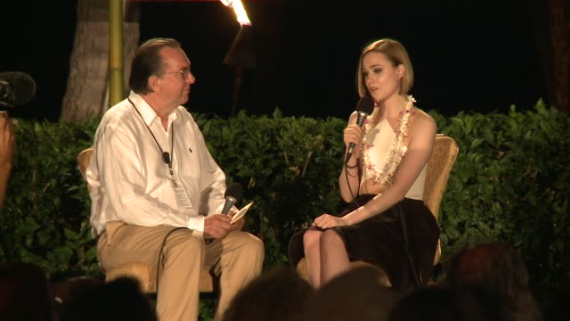 INTERVIEW Evan Rachel Wood accepts the Nova Award and talks about her role in Across the Universe and others 2014 Maui Film Festival At Wailea Day 3...