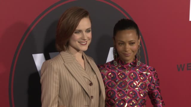 Evan Rachel Wood and Thandie Newton at the 'Westworld' Season 2 Premiere at ArcLight Cinerama Dome on April 16 2018 in Hollywood California