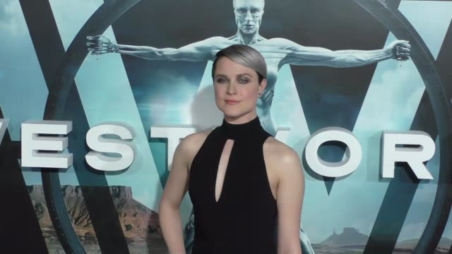 Evan Rachel Wood at the HBO Premiere of Westworld at TCL Chinese Theatre in Hollywood in Celebrity Sightings in Los Angeles