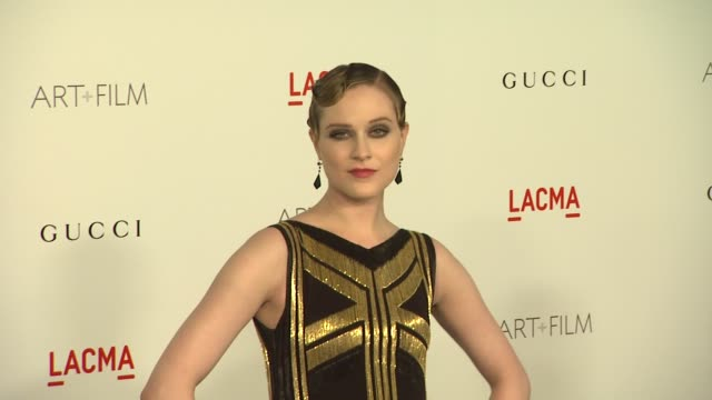 Evan Rachel Wood at the LACMA Hosts Inaugural Art Film Gala Honoring Clint Eastwood And John Baldessari Presented By GUCCI at Los Angeles CA