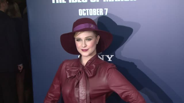 Evan Rachel Wood at the 'The Ides Of March' New York Premiere Red Carpet at New York NY