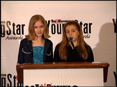 evan rachel wood at the youngstar awards nominations at the mondrian hotel in west hollywood, california on september 6, 2000. - モンドリアンホテル点の映像素材/bロール