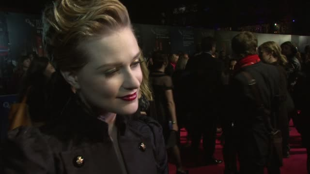 Evan Rachel Wood being on set working with the cast her character at the The Ides of March American Express Gala Premiere 55th BFI London Film...