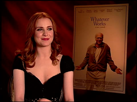 Evan Rachel Wood on her character and the other characters in the film at the 'Whatever Works' Junket at Beverly Hills CA
