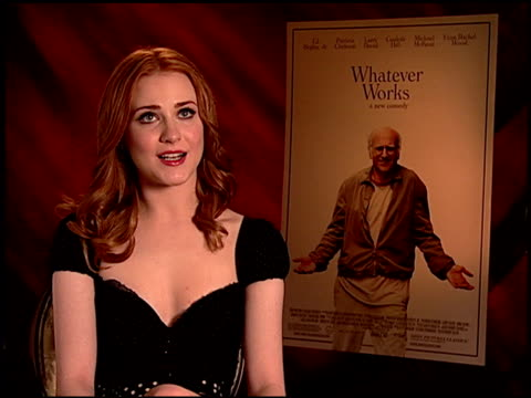 Evan Rachel Wood on upcoming projects at the 'Whatever Works' Junket at Beverly Hills CA