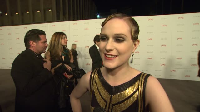 Evan Rachel Wood on why she wanted to attend the LACMA Art Film Gala what she thinks of the night's honorees and when she first became a Clint...