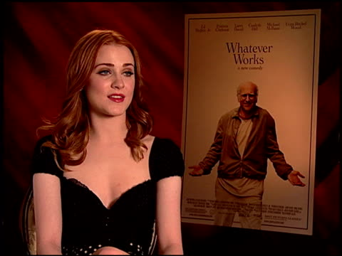Evan Rachel Wood on working in comedy at the 'Whatever Works' Junket at Beverly Hills CA