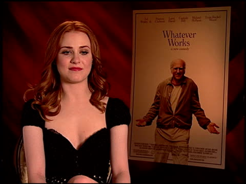 Evan Rachel Wood on working on a Woody Allen film at the 'Whatever Works' Junket at Beverly Hills CA
