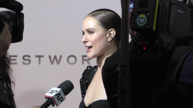 evan rachel wood outside the westworld season 3 premiere at tcl chinese theatre in hollywood in celebrity sightings in los angeles - mann theaters stock videos & royalty-free footage