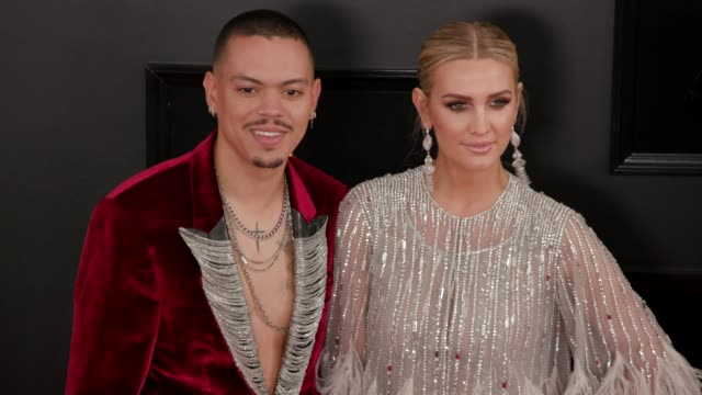 evan ross and ashlee simpson at the 61st grammy awards - arrivals at staples center on february 10, 2019 in los angeles, california - editorial use... - editorial stock videos & royalty-free footage